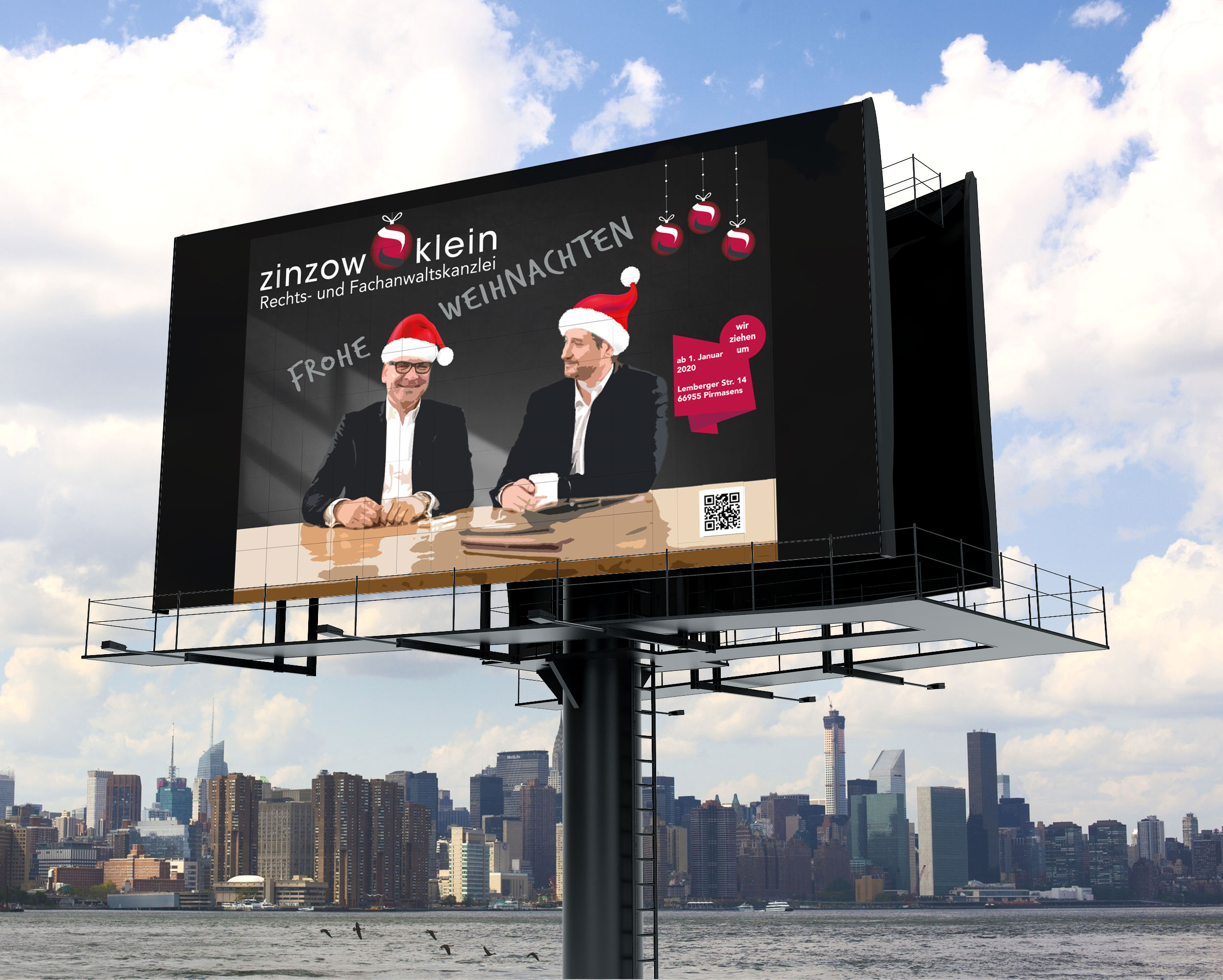 Weihnachtsplakat Rechtsanwalt